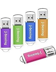 J-boxing USBメモリ USB 2.0スティック 多色 5個セット キャップ式