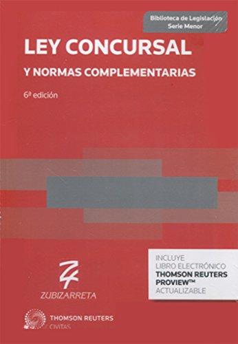 Ley Concursal y normas complementarias (Papel + e-book) (Biblioteca de Legislación - Serie Menor)