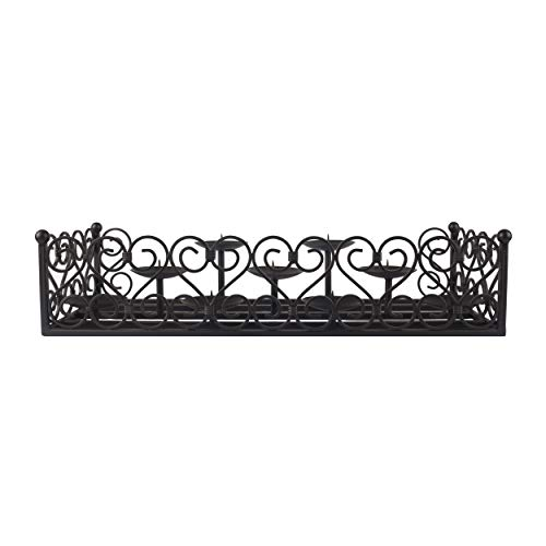 Pleasant Hearth Lanister Fireplace Candelabra, Black