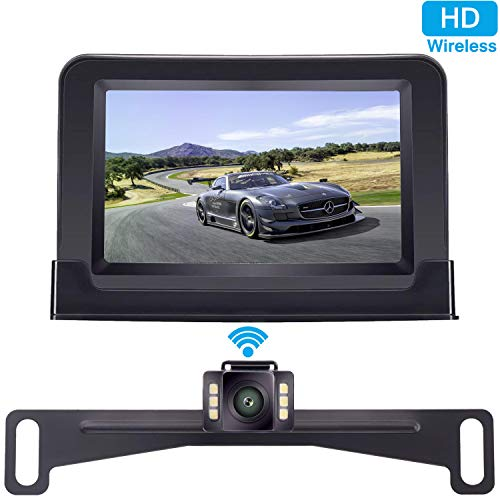 ZSMJ Wireless Backup Camera and 4.3'' Monitor Kit, HD Color, Suitable...