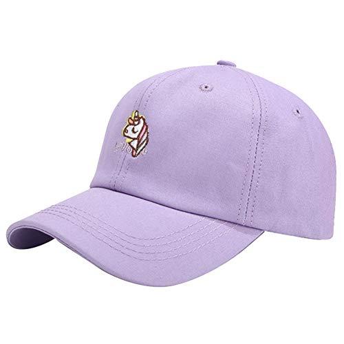 Gyrate Gorra de béisbol unicornio unisex, sombrero de sol de verano ajustable regalo único para niñas niños(Adjustable Purple)