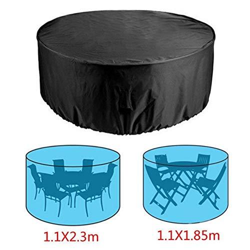 Runde Gartentisch-Abdeckung – Outdoor Runde Tisch- und Stuhlschutz – Wasser- und staubdichter Polyesterstoff für Outdoor-Möbel – Terrassenmöbel Tisch Bankschutz 230x110cm Wie abgebildet