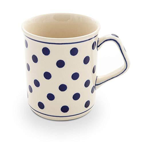 Original Bunzlauer Keramik Kaffeebecher mit eckigem Henkel 0.25 Liter im Dekor 37