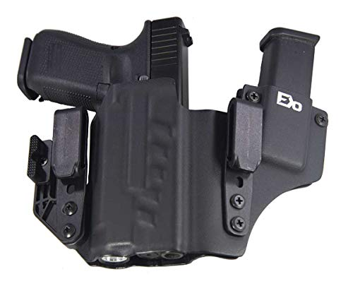 Fierce Defender IWB Kydex Holster Compatible with Glock 19 23 32 w/APLc +1 Series w/Claw -Made in USA- Gen 5 Compatible (Black)