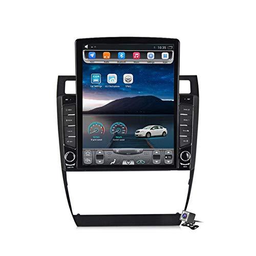Android 9.0 Radio estéreo para automóvil compatible con Audi A6 C5 / S6 2 / RS6 1 1997-2006 Navegación GPS Unidad principal de pantalla vertical de 9.7 pulgadas Reproductor multimedia MP5 Video con 4