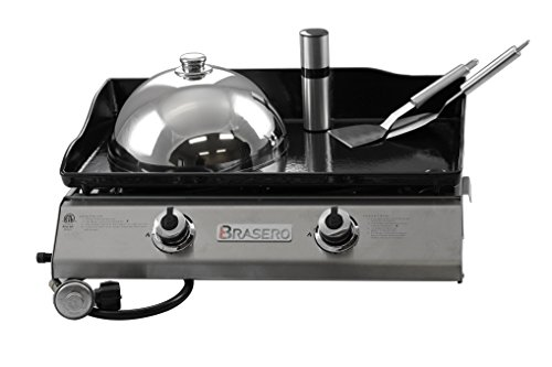 Brasero Portable 26 inch outdoor Flat top Gas griddle -2...