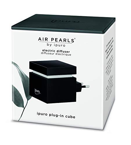 ipuro Air Pearls Big Cube - Extra leiser Aroma Diffuser zum selbst befüllen - Elektronischer Raumduft - Perfekt für Zuhause, Büro, Yoga und Wellness - mit Ladefunktion für Handys