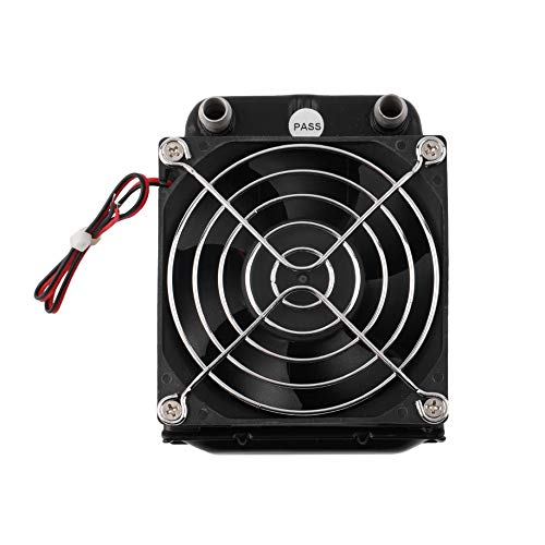 Fila de refrigeración por agua de aluminio de 80 mm con ventilador para CPU, dispositivos de sistema de refrigeración duraderos, radiador de computadora, intercambiador de calor compacto