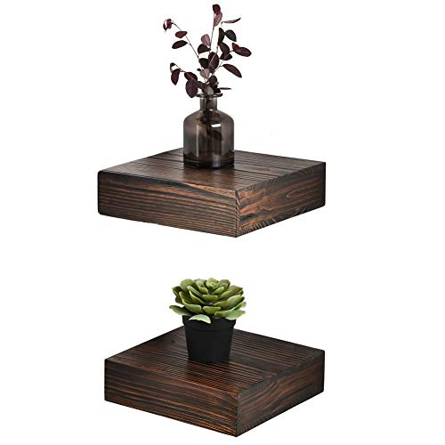 Melannco Floating Wall Mount Square Cube Shelves, set of 3, White - 5140525
