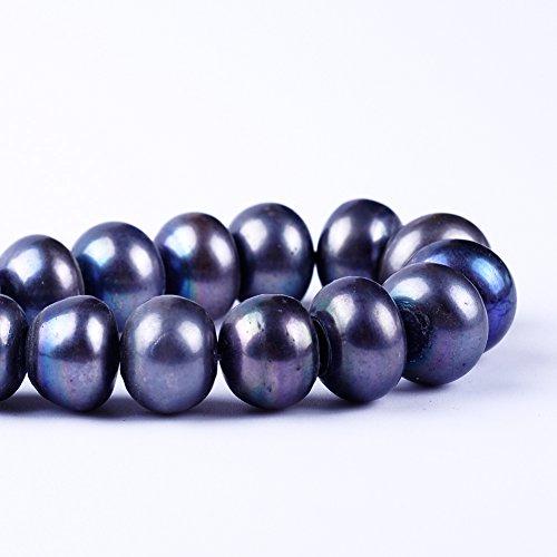 Perles d'eau douce naturelles de 12 à 13 mm - Noires