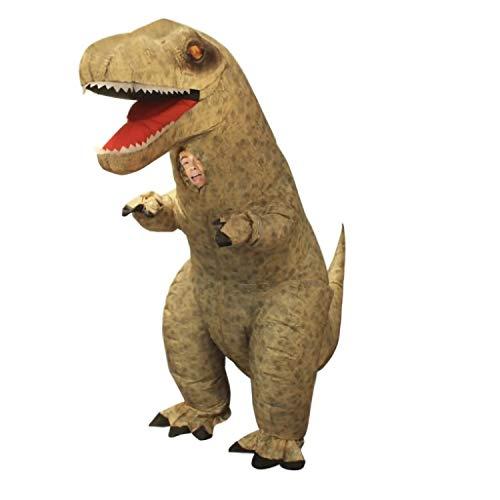 Morph Divertido Disfraz Inflable T-Rex Dinosaurio Adultos - Una talla le queda a la mayoría