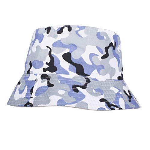 AROVON Sombrero de algodón de ala ancha con visera para el sol, para verano, fiesta, calle, liso, para hip hop.