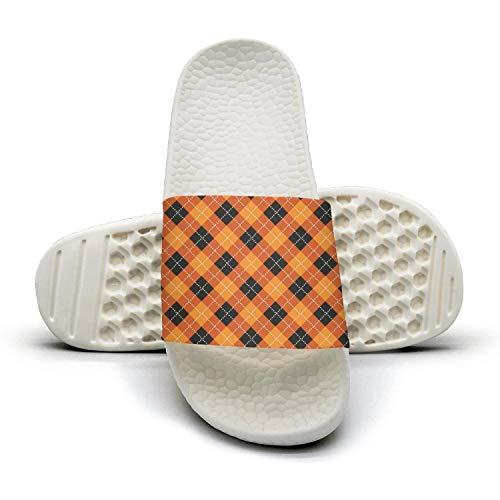 Man Best Slipper Not Halloween Orange Checkerboard Squarewhite Foam Open Toe Flat Sports Slide Sandals