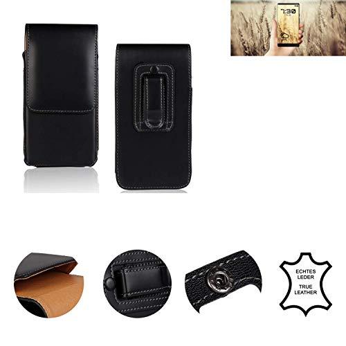 K-S-Trade® Holster Gürtel Tasche Für Allview X4 Soul Infinity N Handy Hülle Leder Schwarz, 1x