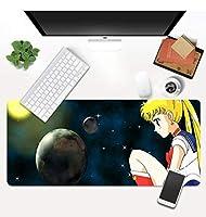 マウスパッド 美少女戦士セーラームーンアニメマウスパッドキーボードゲーマーゲーミングマウスパッドXlxxlラージマウスパッド-(A)60X30X0.3Cm