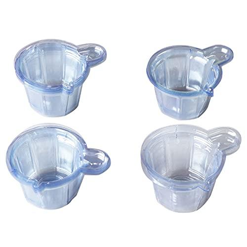 GLJYG Copas plásticas transparentes Copas multiuso taza de medición tazas de mezcla para mezclar pintura, mancha, epoxi