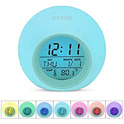 DAYOO Kids Alarm Clock【2020 Version】,7 Color Changing Night Light, LED Digital Clock for Boys Girls, Wake Up Clock for Kids Bedroom Bedside, Children's Clock with Temperature, Touch Control and Snooze