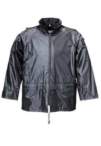 Hochwertige leichte Regenjacke - Terratrend Rainforce schwarz - passend zur Regenhose Rainforce, 4XL
