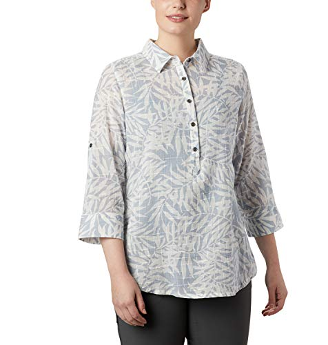 Columbia Summer Ease Túnica Tipo Poncho, Mujer, Gris (Cirrus Grey Wispy Bamboo Print), XS