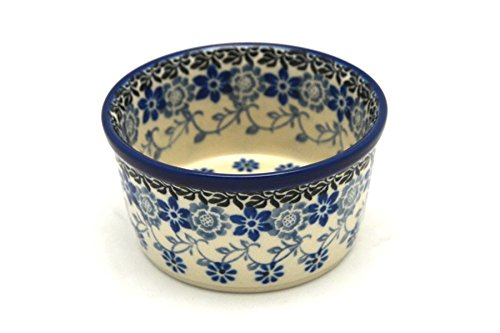Polish Pottery Ramekin - Silver Lace