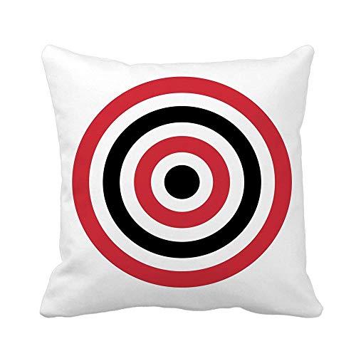 N\A Fodera per Cuscino di tiro Cerchio Rosso di Mira Tiro con L'Arco Tiro con L'Arco Giallo Federa per Cuscino Quadrato Decorativo per la casa Fodera per Cuscino