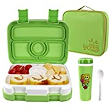 OldPAPA Brotdose Bento Box für Kinder, 4 Compartments Lunchbox Container Set Mit isolierter