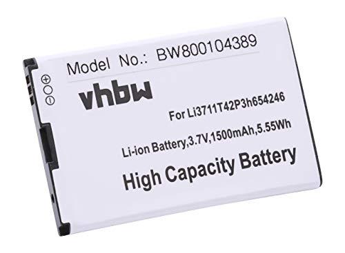 vhbw Akku kompatibel mit 1und1 Mobiler WLAN Router MF30, MF60 Handy Smartphone Handy (1500mAh, 3,7V, Li-Ion)