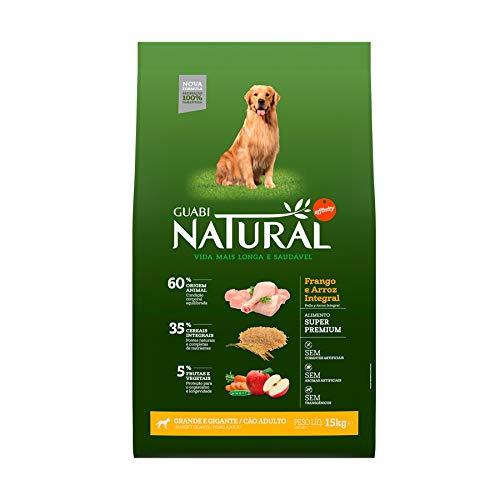 Ração Guabi Natural Cães Adultos Raças Grandes e Gigantes Frango e Arroz 15 Kg