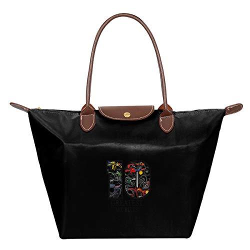 BEST MOTOCROSS BIKES EVER Women Retro Tote Bags Top Handle Satchel Handbags Front Zipper Pocket Tote Cross Body Bag