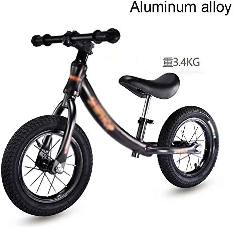 calidad auténtica LL-balance Coche Equilibrar la la la aleación de Aluminio de la bicicletaNo pedalear Equilibrar la Bicicleta de Entrenamiento para Niños y Niños pequeños de 18 Meses a 5 años (Negro frío  nueva gama alta exclusiva