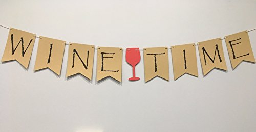 Wine Time Banner for Wine Tasting Party, Wine Banner, Shower Bunting