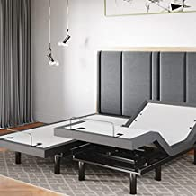 Sven & Son Split King Adjustable Bed Base Frame 5 Minute Assembly, Head & Foot Articulation, USB Ports, Zero Gravity, Interactive Dual Massage, Wireless, Classic (Split King)