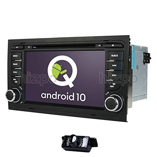 hizpo Autoradio 7 Zoll Doppel Din DVD Player GPS Navi Autoradio Fit für Audi A4 B6 A4 B7 S4 B6 RS4 RS4 B7 Seat Exeo Unterstützt iPhone Blutooth Radio SD USB Canbus Lenkradsteuerung Rückfahrkamera