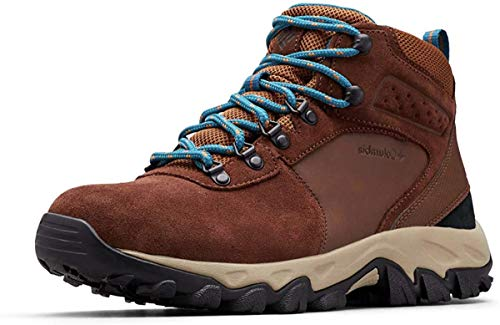 Columbia Men's Newton Ridge Plus II Suede Waterproof Hiking Shoe, Tobacco, Lagoon, 8.5 Regular US