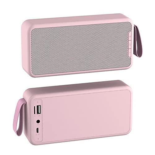SCYMYBH Altavoz Bluetooth Smart Portable FM Tarjeta de Radio U Subwoofer de Disco (Color : Pink)