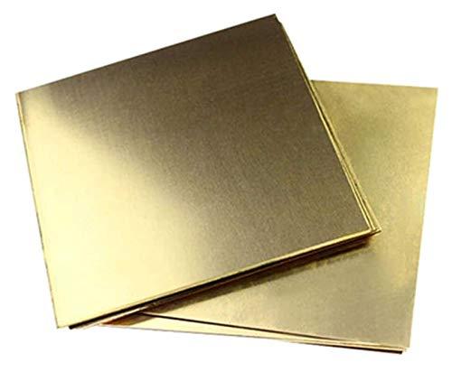 SoGuDio Placa de latón Placa de Papel de Metal de latón de Chapa de Cobre CU Chapa de Metal es Ideal para la fabricación de joyería o el Grosor de los proyectos eléctricos Lámina de Cobre de Metal