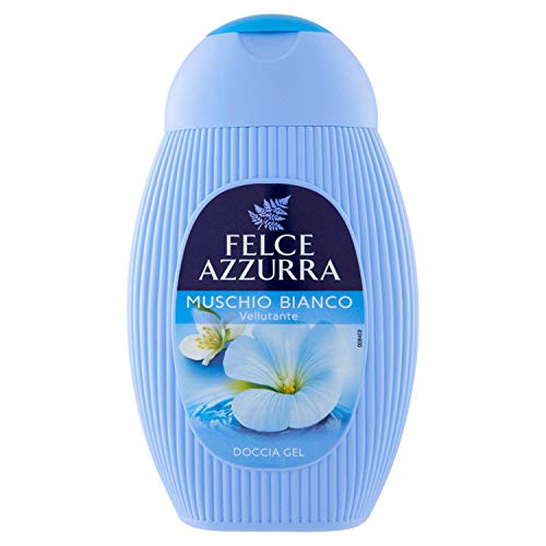 Felce Azzurra Duschgel White Musk - Duschformel mit einem frischen, leicht blumigen Duft nach weißem Moschus - ph-neutral - 1er Pack (6 x 250ml)