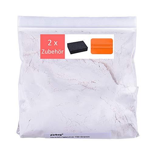 Purbay Gips Pulver Set zum Glätten der Oberfläche f. Gipsabdruck Babybauch