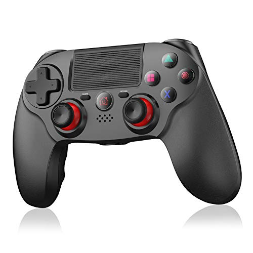 Wireless Controller für PS4,OCDAY Game Controller Gamepad mit Dual Shock Touchpanel-Spielbrett Rechargable Remote Anti-Rutsch Griff Audio-Buchse und sechs Achsen für PS4/PS4 Slim/PS4 Pro
