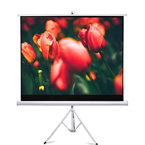 Yzibei projector canvas mobiel inklapbaar projectiescherm met statief 4: 3 HD outdoor indoor projector films scherm voor thuisbioscoop binnen