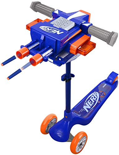 NERF Blaster Scooter Dual Trigger, 3 Wheel Kick Scooter