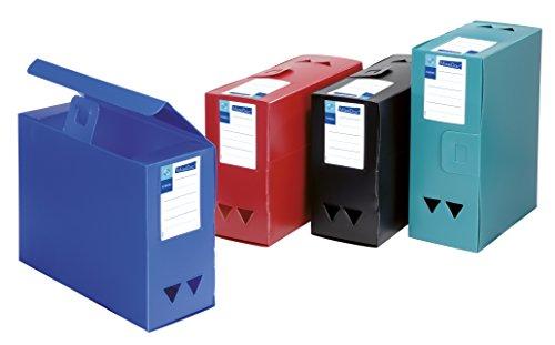 Viquel Maxi Docs Lot de 4 Boîtes de Classement archivage très grande capacité en polypro Dos de 120 mm Couleurs Assorties
