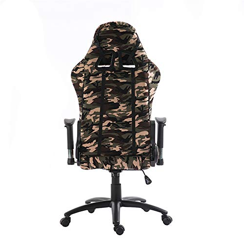 BAIYIQW Gaming-Stuhl, Renn-Gaming-Stuhl, E-Sport-Stuhl, Racing-Stil, PC, Camouflage