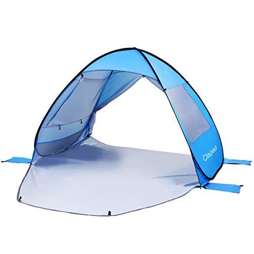 BESPORTBLE Tienda de Campaña para La Playa UPF 50 para Protección Solar Refugio Solar Abierto Automático Portátil para Camping Familiar Pesca de Picnic (Azul)
