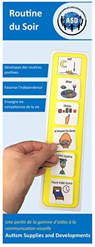 Routine du Soir Français) (produit de communication visuelle en plastique et étanche pour l'autisme)