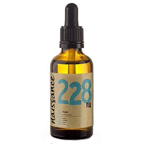 Naissance marokkanisches Arganöl (Nr. 228) 50ml - rein & natürlich - Pflegeöl für Gesicht, Haut, Haar, Bart & Nagelhaut - Glasflasche mit Pipette