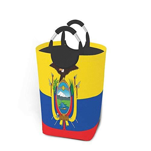 N\A Flag of Ecuador - Paquete de Ropa Sucia, 50 l, cesto de lavandería, cesto de lavandería Impermeable con Asas, Bolsa de lavandería Delgada y Plegable para lavandería, hogar, Dormitorio