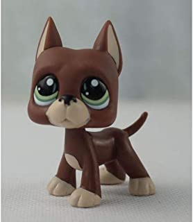 Littlest pet Shop LPS#1519 Brown Great Dane Dog with Green Eyes