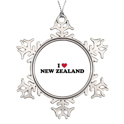 Best Friend Snowflake Ornaments I Love New Zealand Xmas Snowflake Ornament Islander