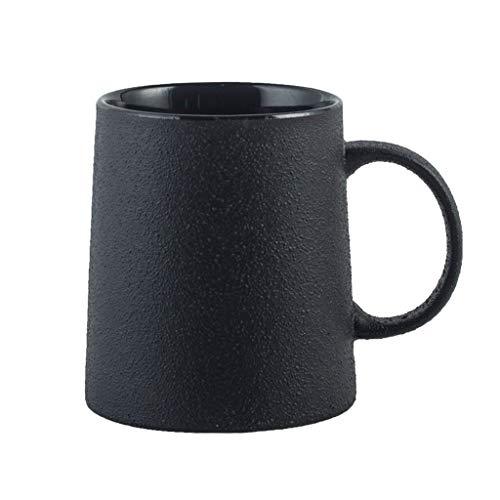 YIXIN2013SHOP Tazza Scrub personalità Tazza in Ceramica Gres Nero Retro Tazza del Latte del caffè Tazza da tè Semplice Tazza Tazza da caffè